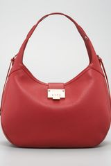 Jimmy Choo Pebbled Leather Relaxed Hobo - Lyst