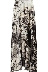 Just Cavalli Printed Satin Maxi Skirt