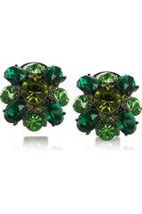 Kenneth Jay Lane Swarovski Crystal Cluster Clip Earrings - Lyst