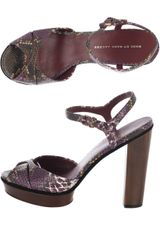 Marc By Marc Jacobs Python Print Platform Sandals in Purple - Lyst