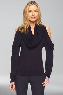 Michael Kors Coldshoulder Cowlneck Top - Lyst