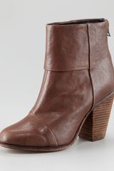 Rag & Bone Newbury Leather Bootie - Lyst