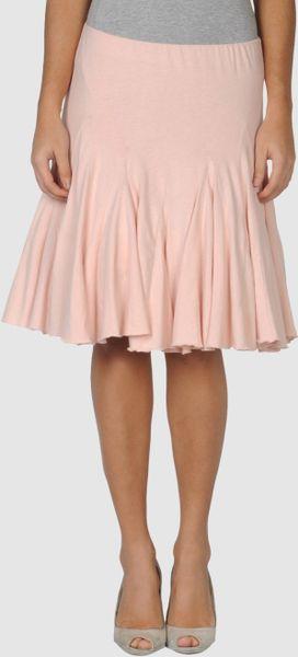 Ralph Lauren Knee Length Skirt In White Lyst
