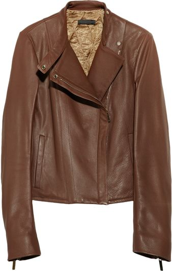 The Row Cookton Textured Leather Biker Jacket - Lyst