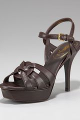Yves Saint Laurent Tribute Leather Sandal - Lyst