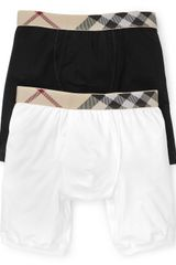 Burberry Vintage Check Cotton Boxer Briefs - Lyst