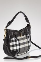 Burberry Crossbody Beat Core Small Waltham in Gray (charcoal check) - Lyst