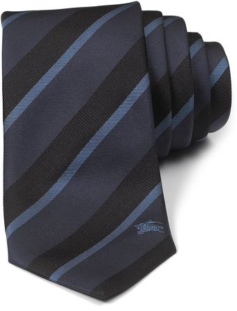Burberry London Ribbon Stripe Silk Tie - Lyst