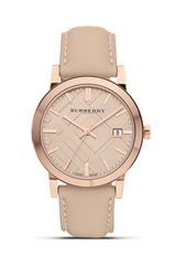 Burberry Leather Watch with Check Face 38mm - Lyst