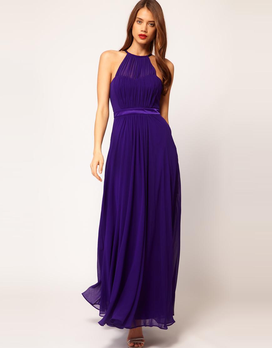 Lyst - Coast Coast Halter Maxi Dress in Purple