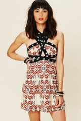 Free People Fp New Romantics Criss Cross Dress - Lyst