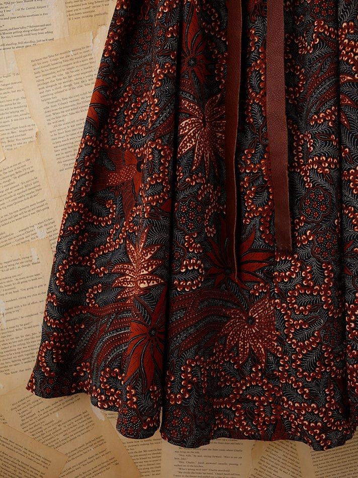 Free People Vintage Batik Printed Maxi Dress In Orange Lyst
