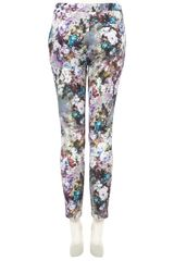 Topshop Floral Cigarette Trousers in Multicolor (multi) - Lyst