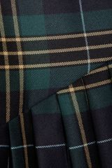 Vivienne Westwood Anglomania Plaid Pleated Wool Twill Skirt in Green - Lyst