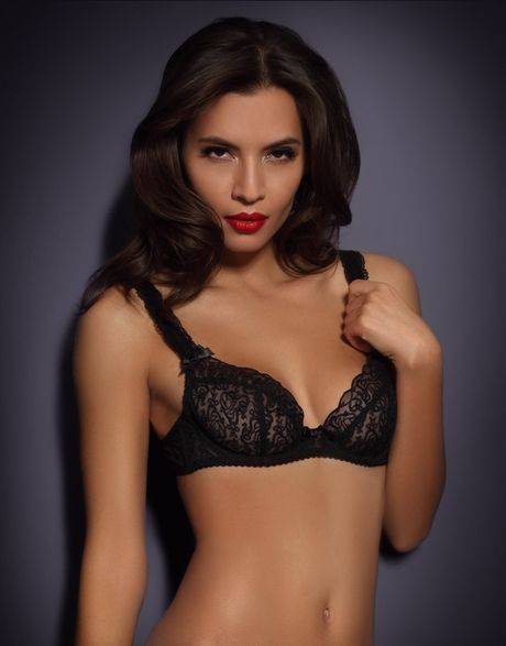 Agent Provocateur Mercy Plunge Bra in Black - Lyst