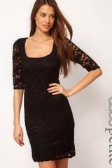 ASOS Collection Asos Petite Half Sleeve Lace Dress - Lyst
