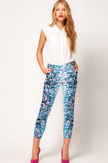 ASOS Collection Asos Crop Trousers in Floral Print - Lyst