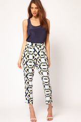 ASOS Collection Asos Loose Trousers in Rocco Print - Lyst