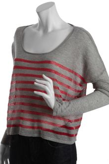 BCBGeneration Lollipop Striped Linen Blend Boxy Sweater - Lyst