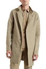 Bottega Veneta Foldover Band Collar Jacket - Lyst