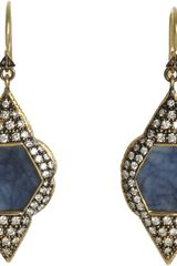 Cathy Waterman Sapphire Scalloped Frame Earrings - Lyst