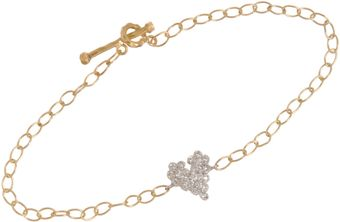 Cathy Waterman  Platinum Diamond Scalloped Heart Bracelet - Lyst