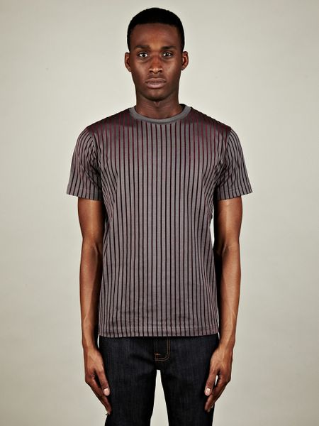 Christopher Kane Christopher Kane Security Flock Stripe Tee in Gray for Men (grey)