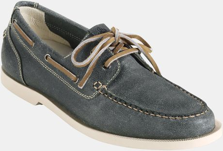 Cole Haan Air Yacht Club Boat Shoe in Blue for Men (teal suede