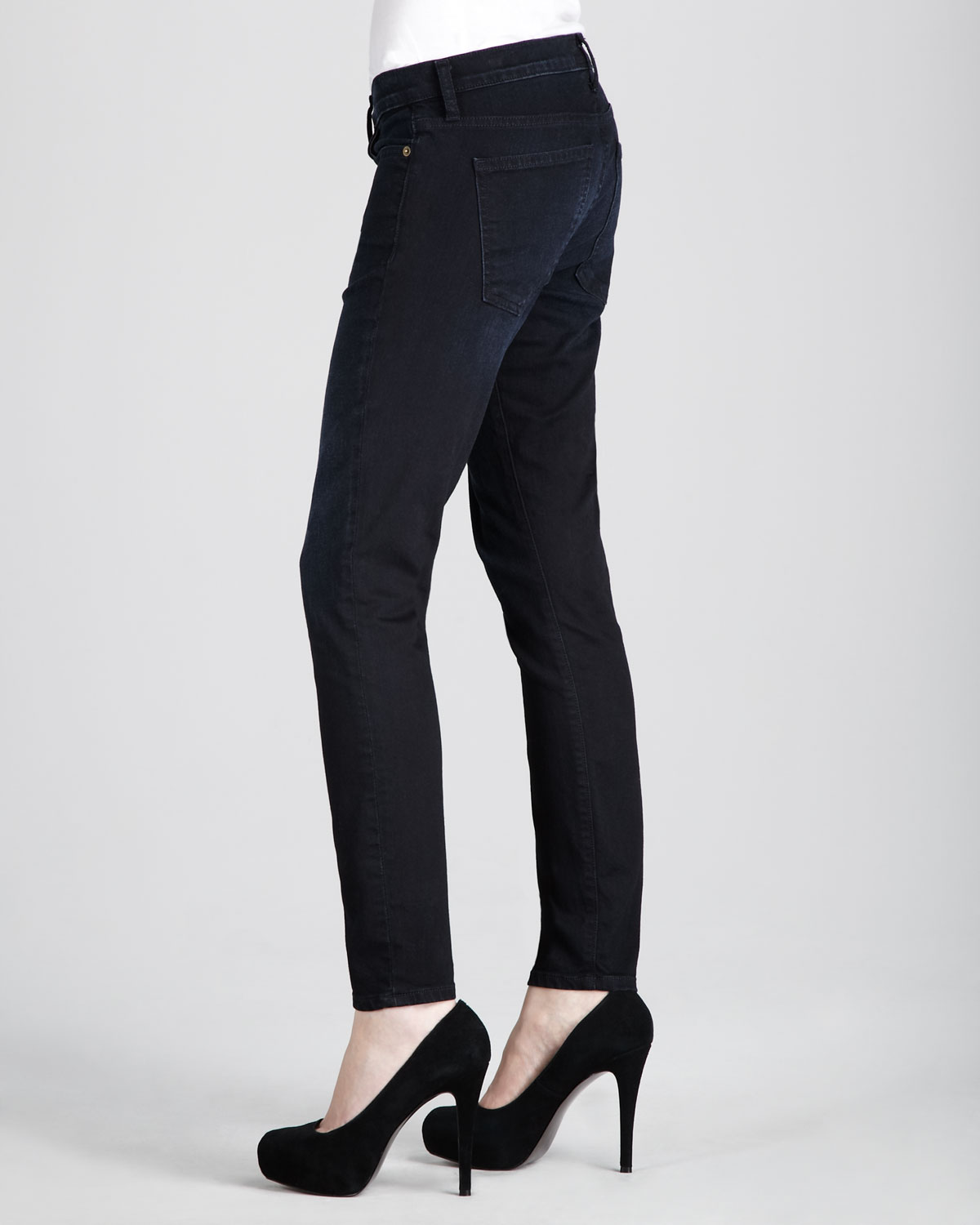 Book Cover Black Jeans : Current elliott the stiletto jeans black book in lyst