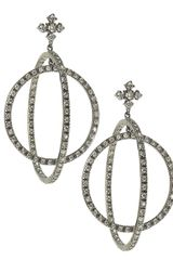 Cz By Kenneth Jay Lane Double Circle Drop Earrings - Lyst