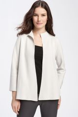 Eileen Fisher Funnel Neck Jacket - Lyst