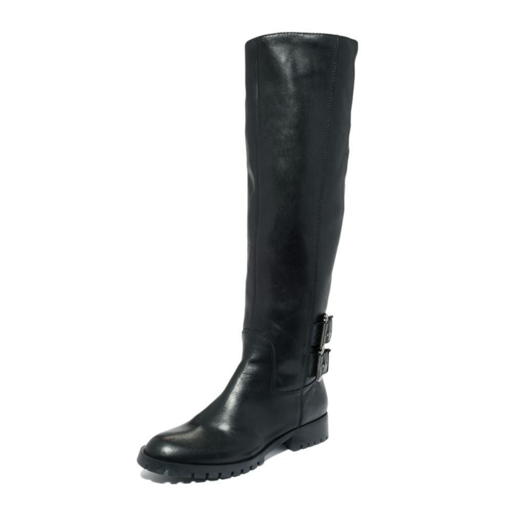 enzo angiolini skat boots in black black leather lyst