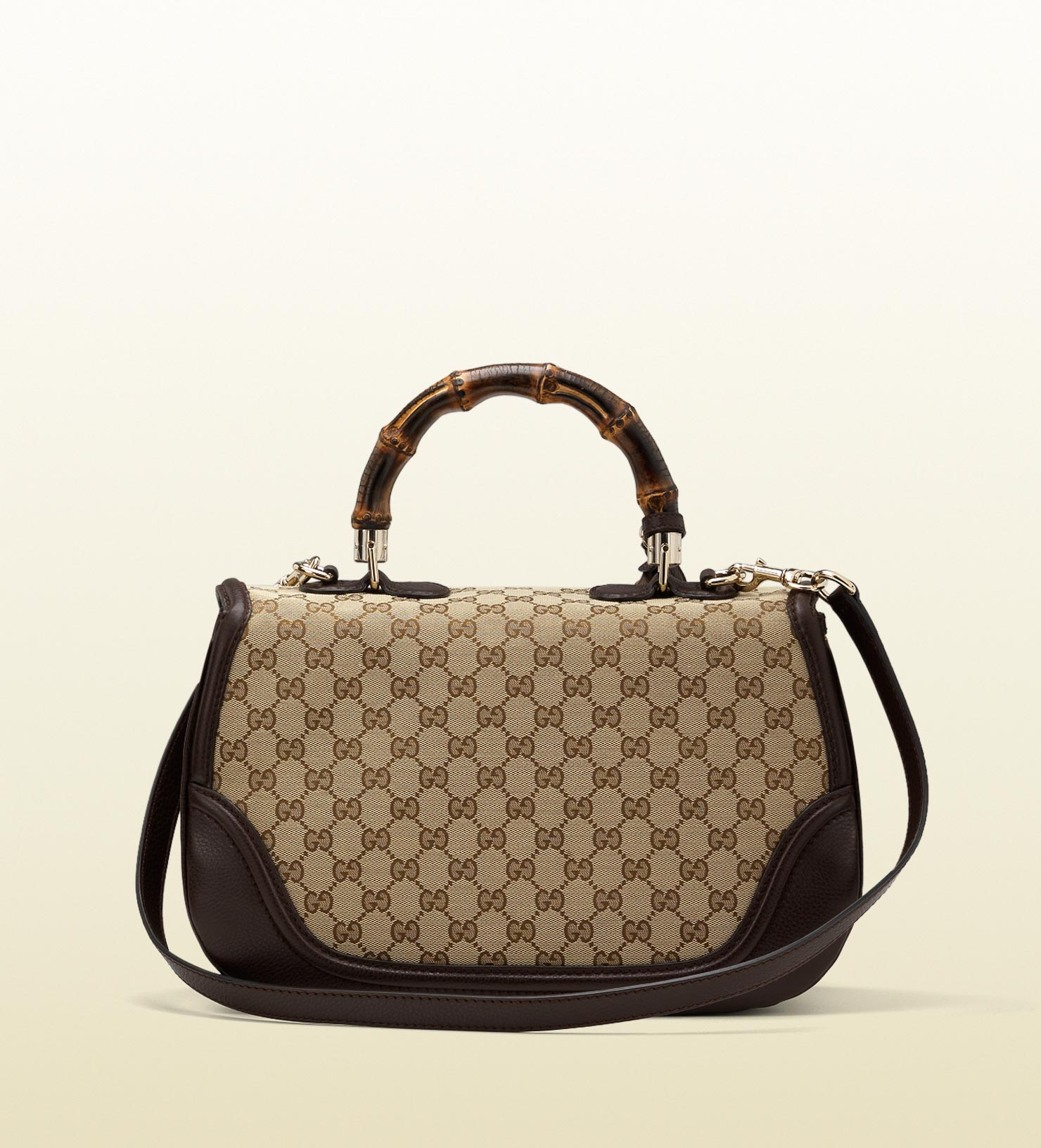 28fb0d06b35e Gucci Canvas Bag With Bamboo Handle | Stanford Center for ...