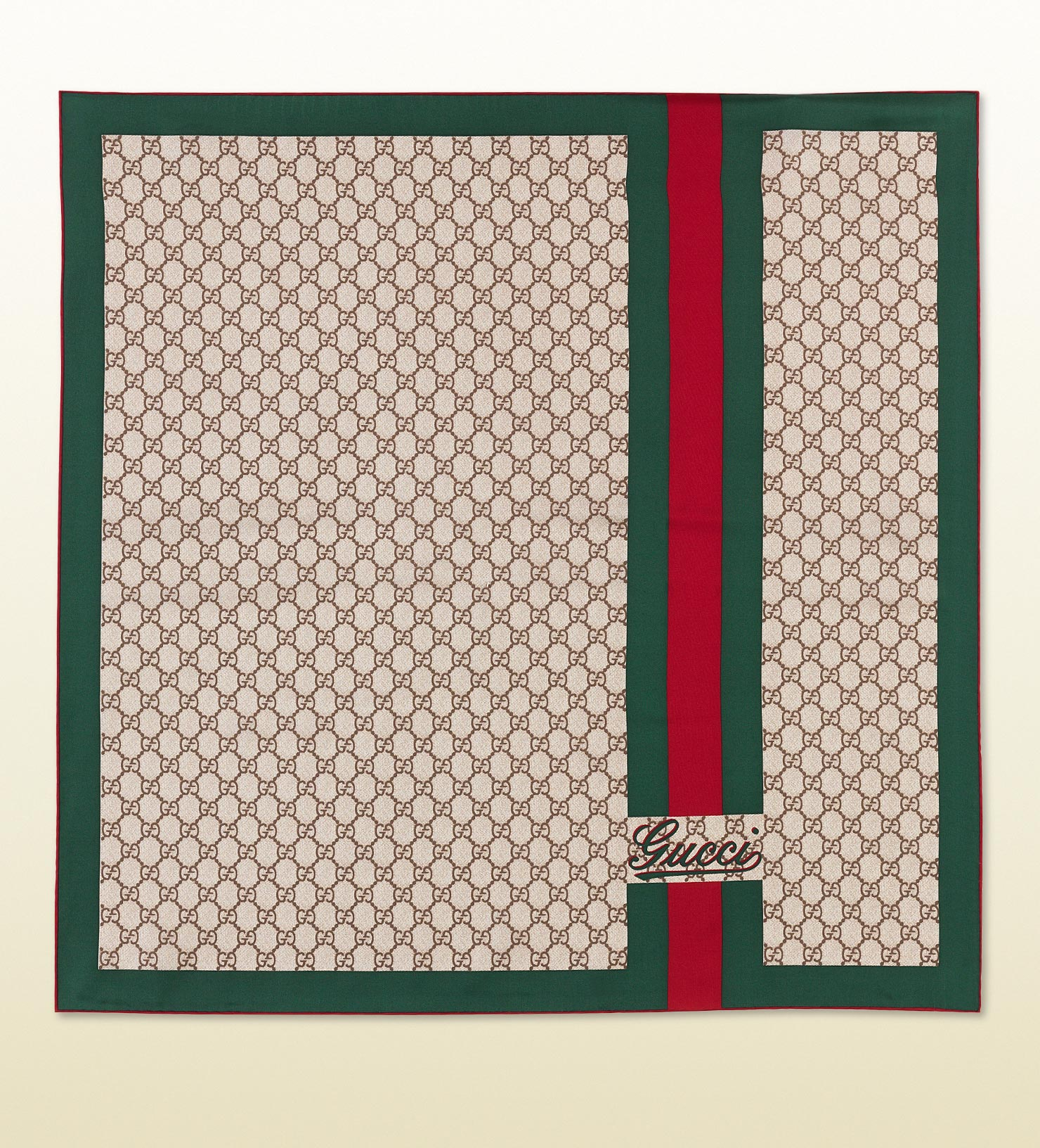 Lyst - Gucci Gg Pattern Carre with Gucci Script and Web ...