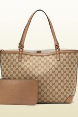 Gucci Gucci Craft Original GG Canvas Tote - Lyst