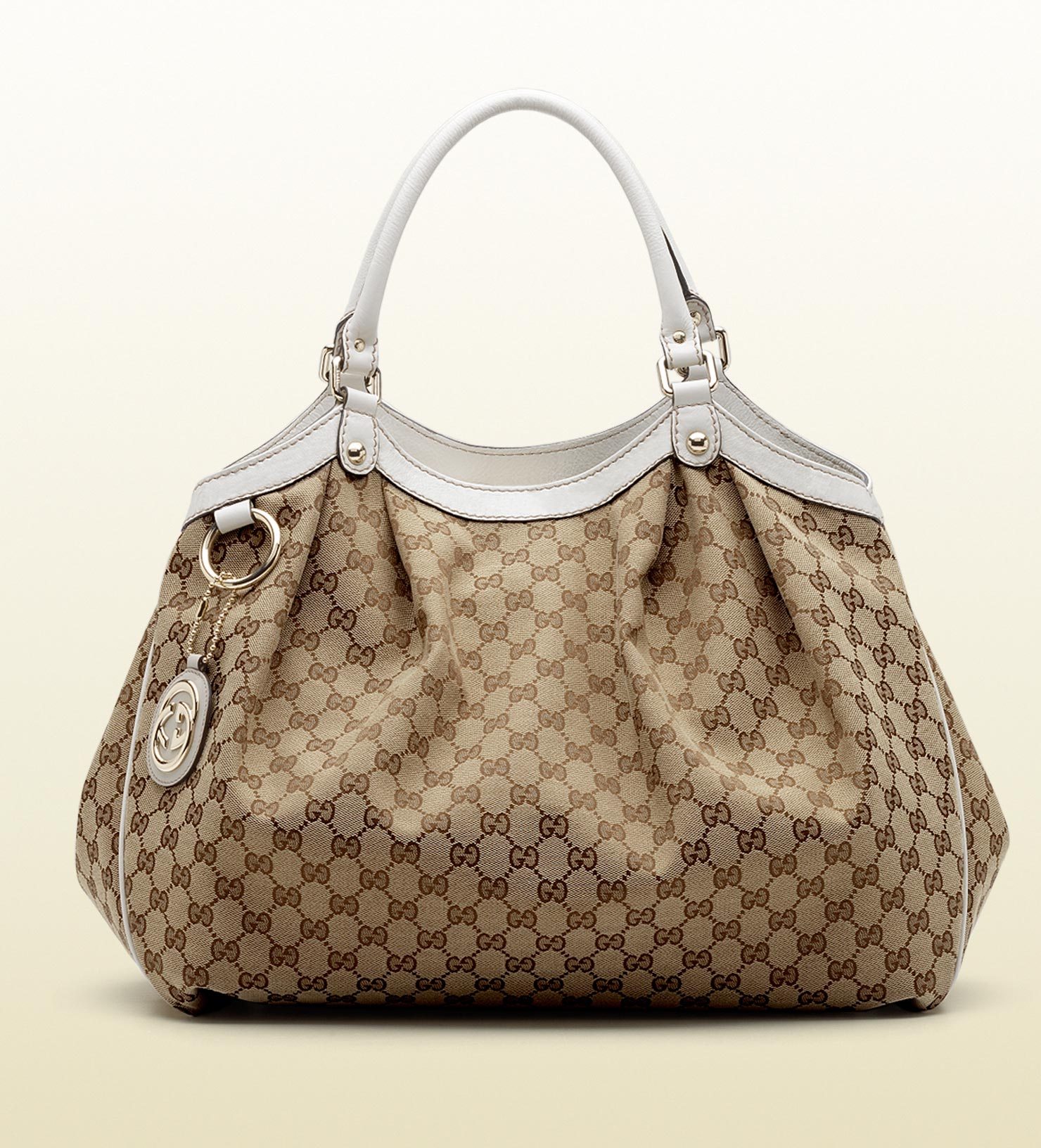 2c02b056f3d Lyst - Gucci Sukey Tote in Natural