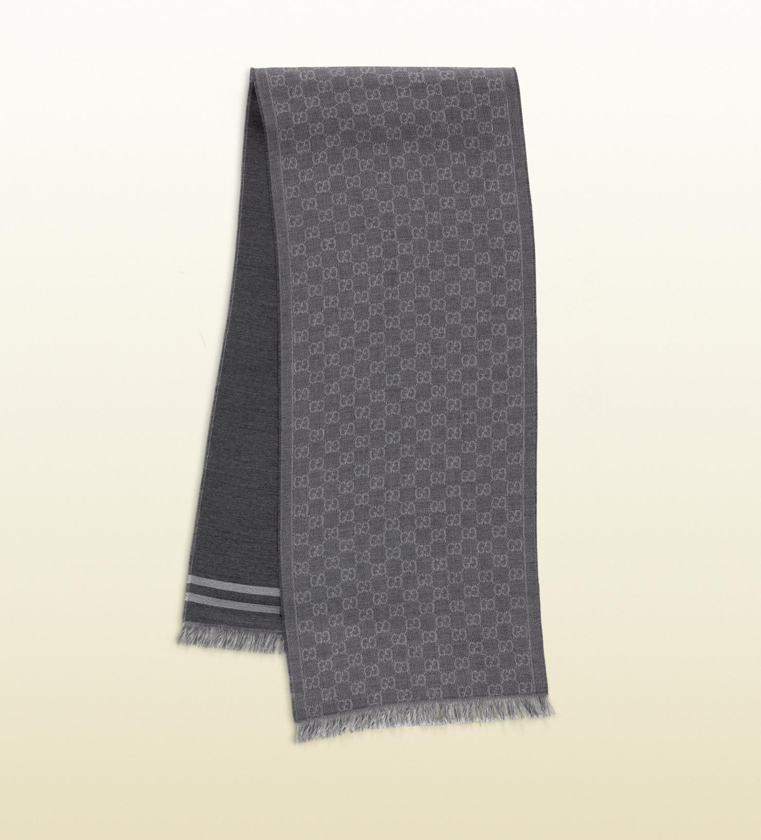 GG jacquard pattern knitted scarf - Black Gucci 5qkBl