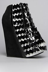 Jeffrey Campbell The Nokea Shoe in Black and White - Lyst