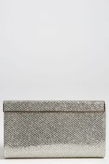 Jimmy Choo Cayla Glitter Clutch in Gold (champagne) - Lyst