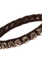 Lanvin Macrame Crystal Small Bangle - Lyst