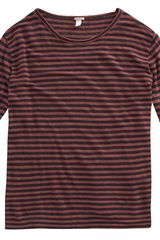 Massimo Alba Horizontal Bar Stripe Sweater in Red for Men (navy) - Lyst