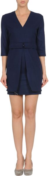 Mauro Gasperi Short Dress in Blue - Lyst