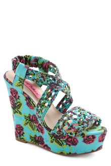ModCloth Betsey Johnson All Braid Up Wedge - Lyst