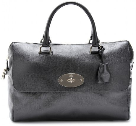 Mulberry Del Rey Leather Tote in Black - Lyst
