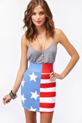Nasty Gal Stars Stripes Skirt