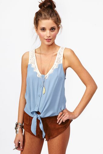 Nasty Gal Tied Crochet Top - Lyst