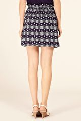 Oasis Swirl Fan Skirt in Blue - Lyst