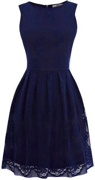 Oasis Lace Cutaway Dress - Lyst