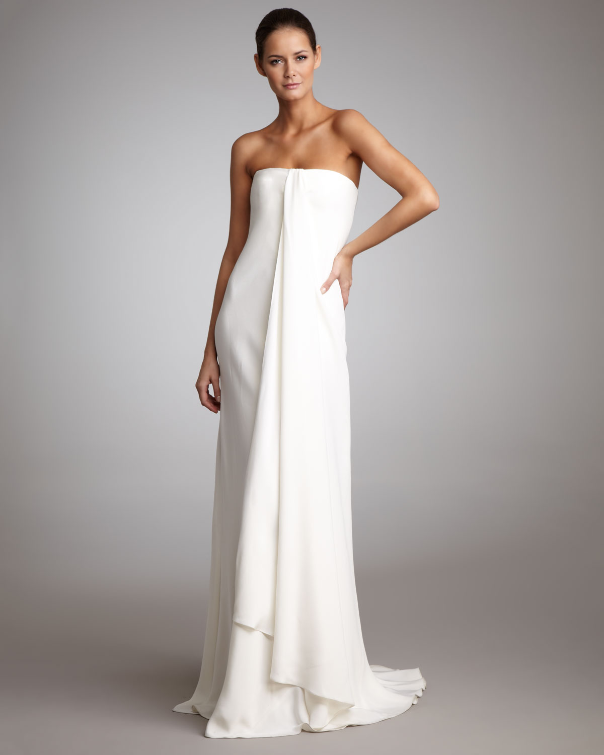 Draped Strapless Dress