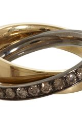 Roberto Marroni Cognac Diamond Rolling Ring - Lyst